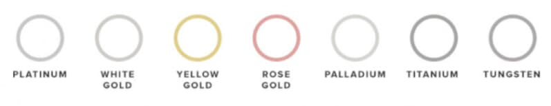 metals, white gold, yellow gold, rose gold