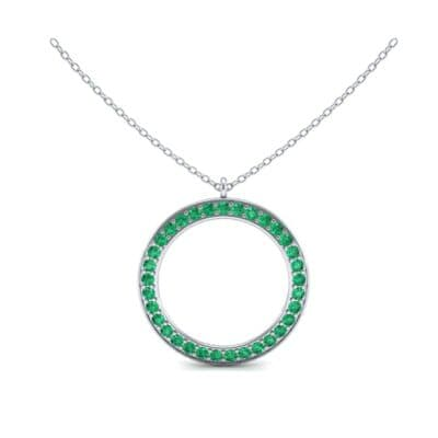 Thin Flat Side Emerald Pendant (1.05 CTW) Top Dynamic View