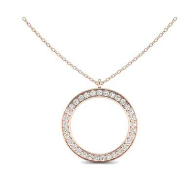 Thin Flat Side Diamond Pendant (0.99 CTW) Top Dynamic View