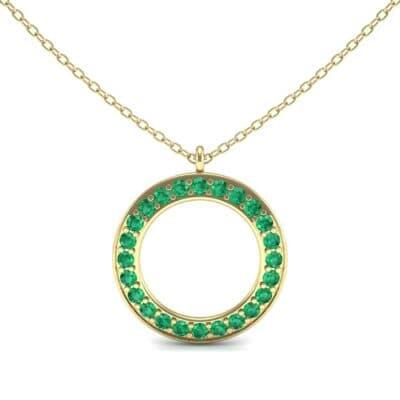 Medium Flat Side Emerald Pendant (1.08 CTW) Top Dynamic View