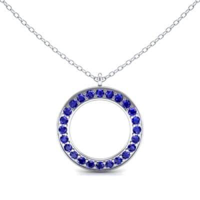 Medium Flat Side Blue Sapphire Pendant (1.08 CTW) Top Dynamic View