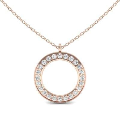Medium Flat Side Diamond Pendant (0.72 CTW) Top Dynamic View