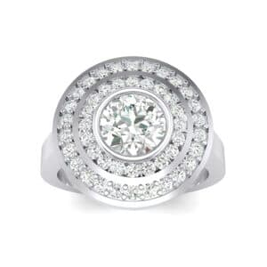 Petal Double Halo Diamond Engagement Ring (0.82 Carat)