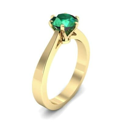 Solitaire Emerald Engagement Ring (0.51 Carat)