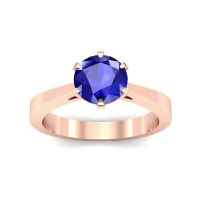 Solitaire Blue Sapphire Engagement Ring (0.51 Carat)