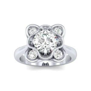 Flower Cup Diamond Engagement Ring (0.66 Carat)