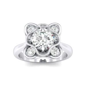 Flower Cup Diamond Engagement Ring (0.66 Carat)