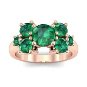Tapered Seven-Stone Emerald Engagement Ring (1.18 Carat)