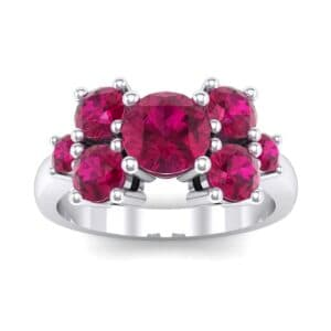 Tapered Seven-Stone Ruby Engagement Ring (1.18 Carat)