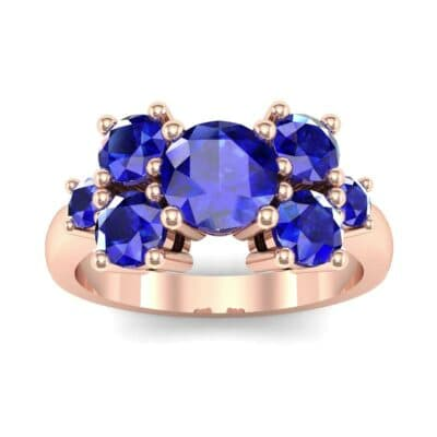 Tapered Seven-Stone Blue Sapphire Engagement Ring (1.18 Carat)
