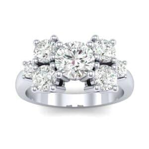 Tapered Seven-Stone Diamond Engagement Ring (1.18 Carat)