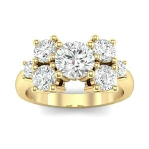 Tapered Seven-Stone Diamond Engagement Ring (1.18 Carat)