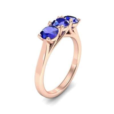 Trinity Trellis Blue Sapphire Engagement Ring (1.08 Carat)