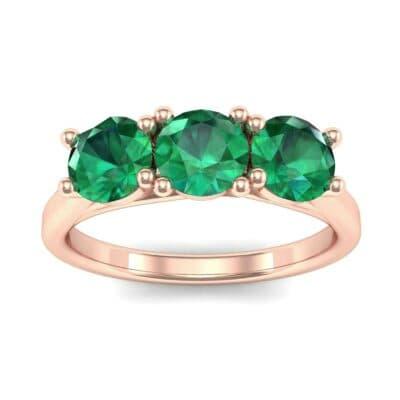 Trinity Trellis Emerald Engagement Ring (1.08 Carat)