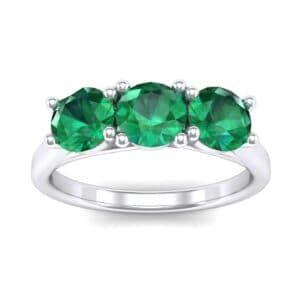 Trinity Trellis Emerald Engagement Ring (1.08 Carat)