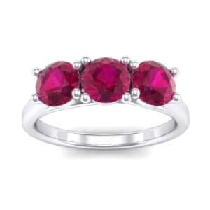 Trinity Trellis Ruby Engagement Ring (1.08 Carat)