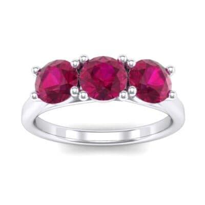 Trinity Trellis Ruby Engagement Ring (1.08 Carat)