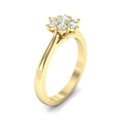 Floral Diamond Cluster Engagement Ring (0.35 Carat)