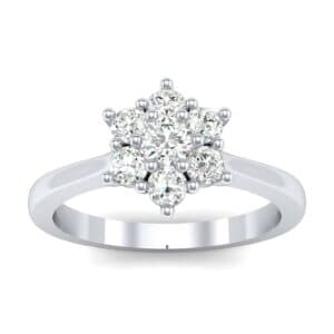 Floral Diamond Cluster Engagement Ring (0.35 Carat)