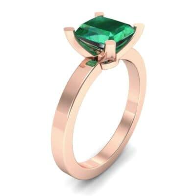 Classic Radiant-Cut Solitaire Emerald Engagement Ring (0.9 Carat)
