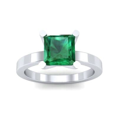 Classic Radiant-Cut Solitaire Emerald Engagement Ring (0.9 CTW) Top Dynamic View
