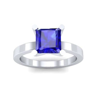 Classic Radiant-Cut Solitaire Blue Sapphire Engagement Ring (0.9 CTW) Top Dynamic View