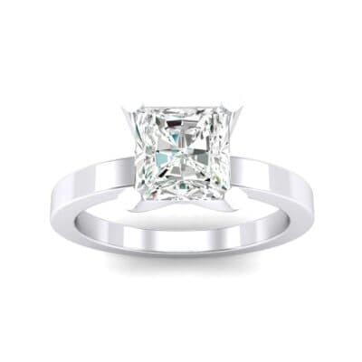 Classic Radiant-Cut Solitaire Diamond Engagement Ring (0.9 Carat)