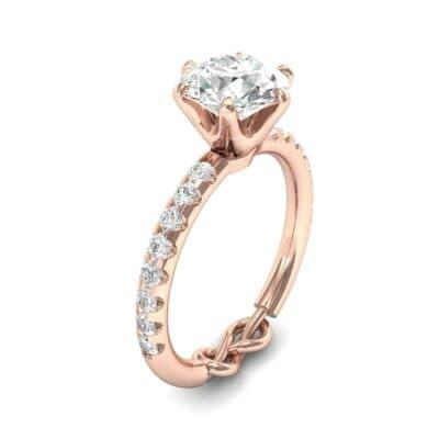 Infinity Six-Prong Pave Diamond Engagement Ring (0.62 Carat)