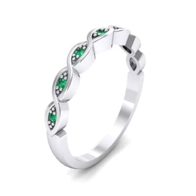 Marquise Emerald Ring (0.12 Carat)
