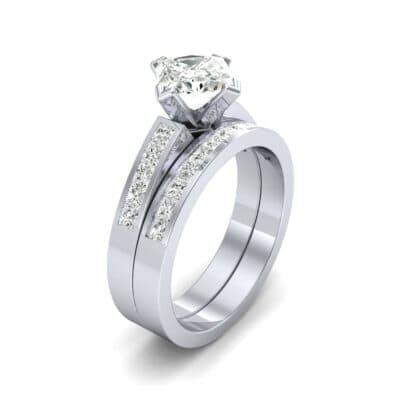 Princess-Cut Compass Point Diamond Engagement Ring