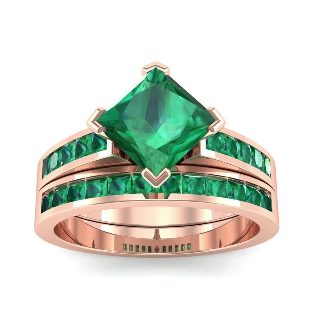 3827 Render 1 01 Camera2 Stone 1 Emerald 0 Floor 0 Metal 2 Rose Gold 0 Emitter Aqua Light 0