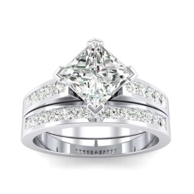 Princess-Cut Compass Point Diamond Engagement Ring