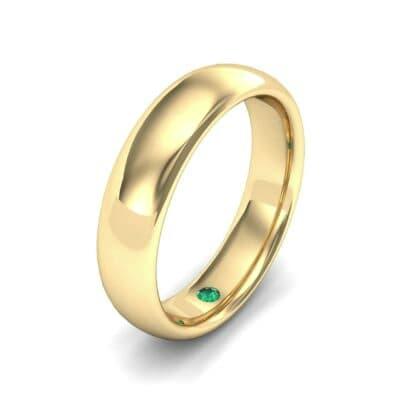 Hidden Solitaire Emerald Wedding Ring (0.05 Carat)