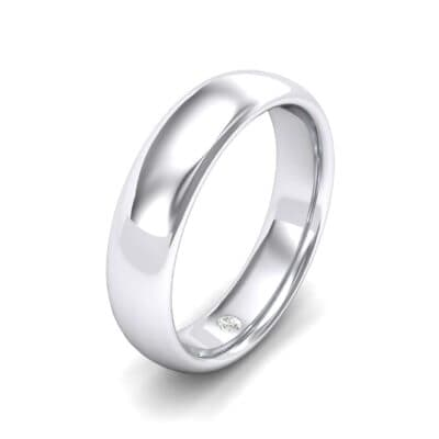 Hidden Solitaire Diamond Wedding Ring (0.03 Carat)