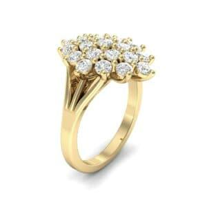 Era Split Shank Diamond Cluster Engagement Ring (1.05 Carat)