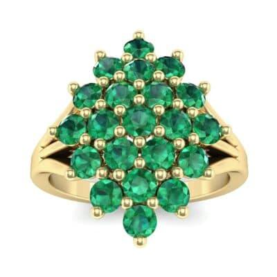Era Split Shank Emerald Cluster Engagement Ring (1.68 Carat)