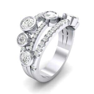 Triple Line Octave Diamond Ring (1.48 Carat)