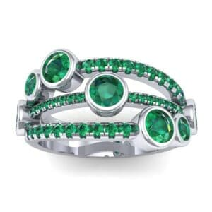 Triple Line Octave Emerald Ring (1.48 Carat)