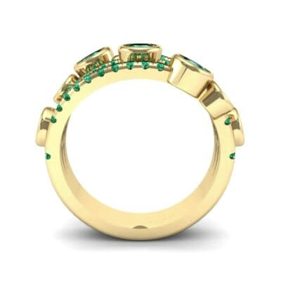 Triple Line Octave Emerald Ring (2.34 CTW) Side View