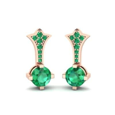 Crest Emerald Drop Earrings (0.59 Carat)