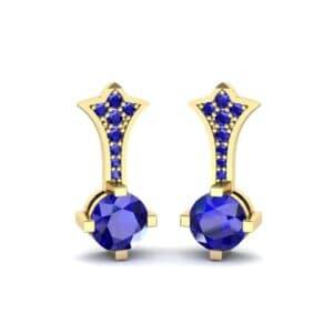 Crest Blue Sapphire Drop Earrings (0.59 Carat)