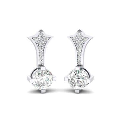 Crest Diamond Drop Earrings (0.5 Carat)