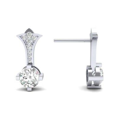 Crest Diamond Drop Earrings (0.5 CTW) Top Dynamic View
