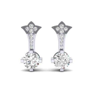 Crest Diamond Drop Earrings (0.5 CTW) Side View