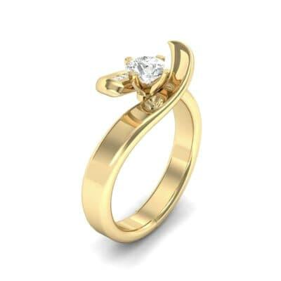 Dancer Diamond Bypass Engagement Ring (0.39 Carat)