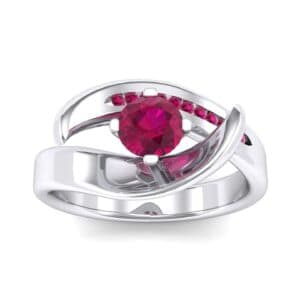 Dancer Ruby Bypass Engagement Ring (0.59 Carat)