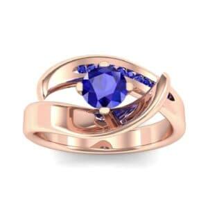 Dancer Blue Sapphire Bypass Engagement Ring (0.59 Carat)