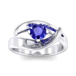 Dancer Blue Sapphire Bypass Engagement Ring (0.59 Carat)