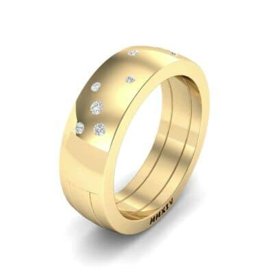Wide Stellar Embedded Diamond Ring (0.14 Carat)