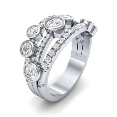 Triple Band Seven-Stone Diamond Ring (1.86 CTW) Perspective View